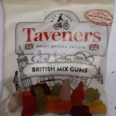 Taveners british mix gums great british sweets 165g (Taveners)