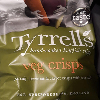 Chips de betterave, panais et carotte au sel de mer (Tyrrells)