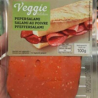 Salami au poivre veggie (Delhaize)