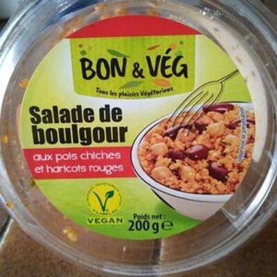 Salade de boulgour aux pois chiches et haricots rouges (Bon & vég)