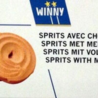 Sprits avec chocolat au lait (Winny)