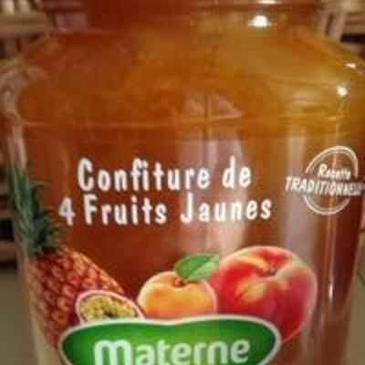 Confiture 4 fruits jaunes (Materne)