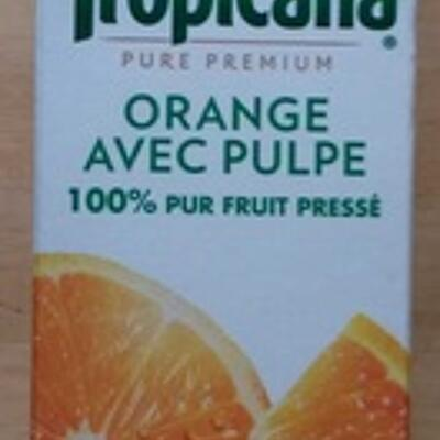 Pure premium orange avec pulpe pressée (Tropicana)