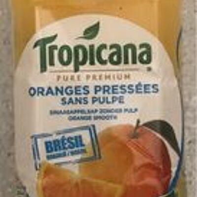 Jus d'orange pressées sans pulpe (Tropicana)