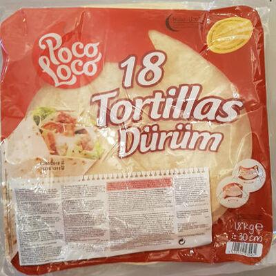 18 tortillas dürüm (Poco loco)