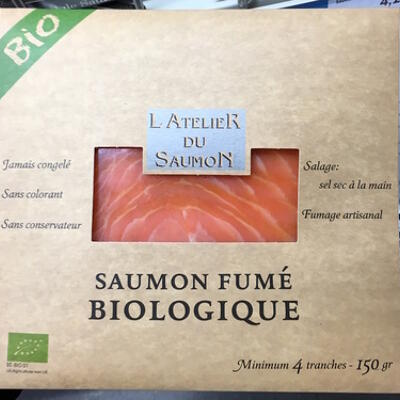 Saumon fumé biologique (L'atelier du saumon)