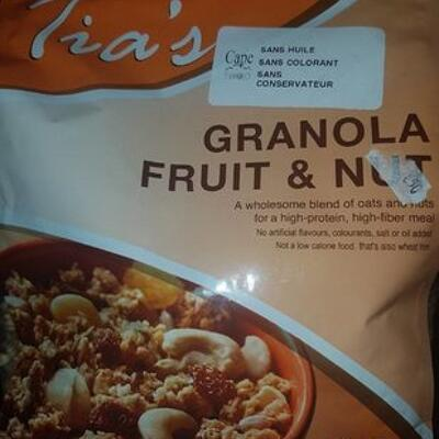 Tias fruit and nut muesli (Tia's)