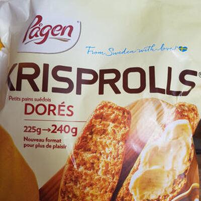 Krisprolls - petit pains suédois dorés (Pagen)