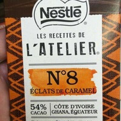 Recettes de l'atelier n°8 eclats de caramel (Nestlé)