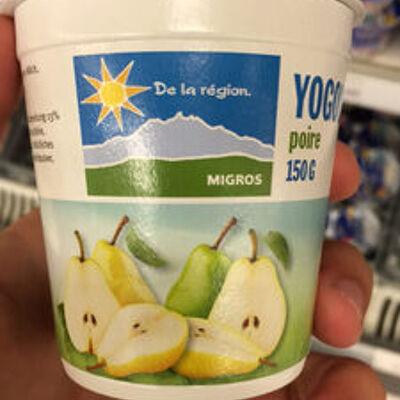 Yogourt poire, de la région (Migros)