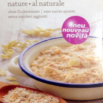 Porridge nature sans sucres ajoutés (Naturaplan)