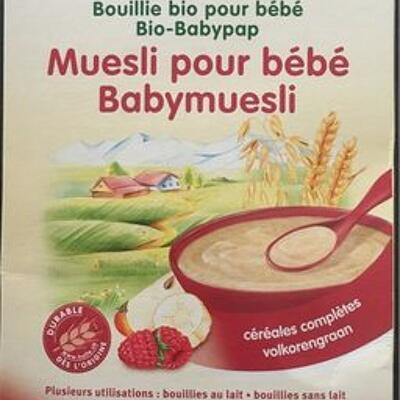 Muesli pour bebe 6eme mois (Holle)