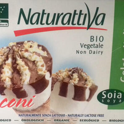 Cônes soja chocolat (Naturattiva)