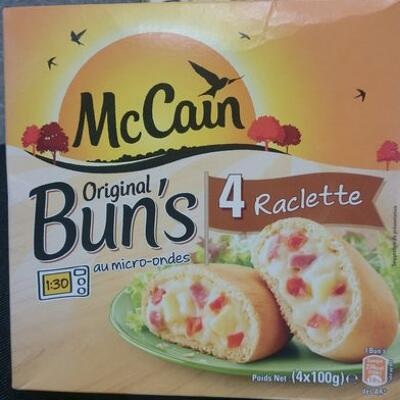 Original bun's raclette (Mccain)
