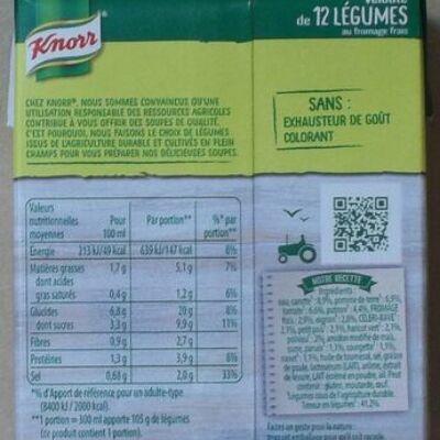 Knorr soupe velouté de 12 légumes au fromage frais 30cl (Knorr)