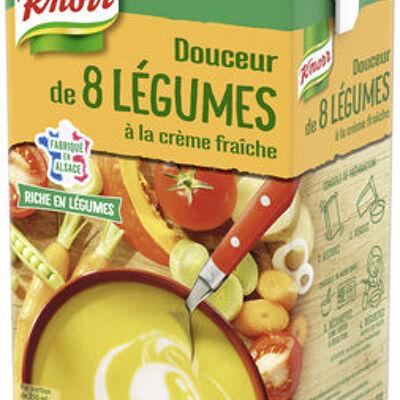 Knorr soupe liquide douceur de 8 légumes à la crème fraîche 1l (Knorr)