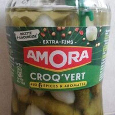 Amora cornichons extra-fins bocal croq'vert (Amora)