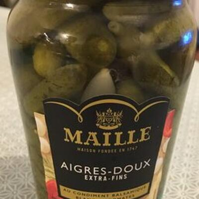 Cornichons aigres doux extra fins (Maille)