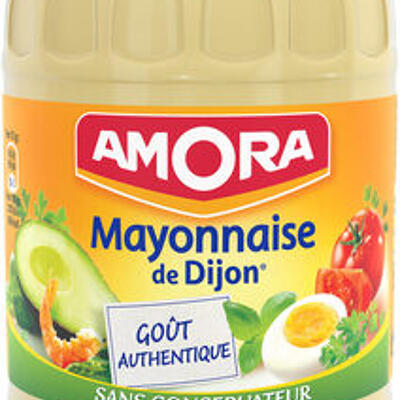 Amora mayonnaise de dijon nature œufs de poules élevées en plein air (Amora)