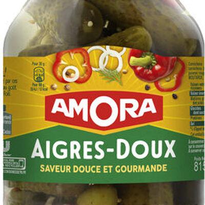 Amora cornichons aigres-doux - saveur douce et gourmande (Amora)