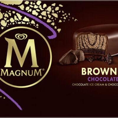 Magnum barre glacée brownie chocolat x4 (Magnum)
