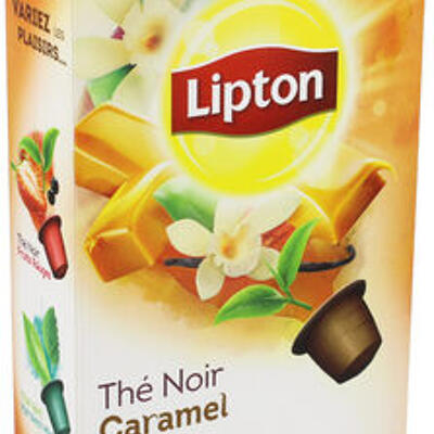 Lipton thé noir caramel vanille 10 capsules (Lipton)