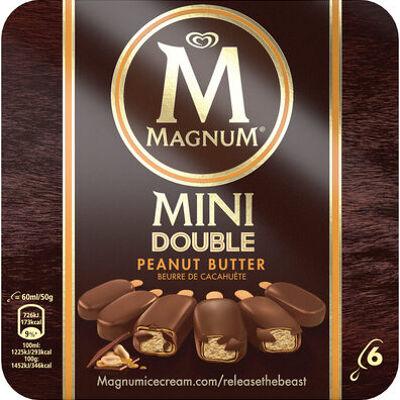 Mini batonnet glace double peanut butter x6 360ml (Magnum)