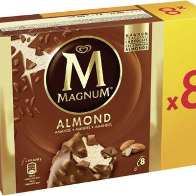 Magnum batonnet glace amande x8 880ml (Magnum)