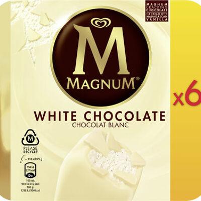 Magnum batonnet glace chocolat blanc x6 660ml (Miko)