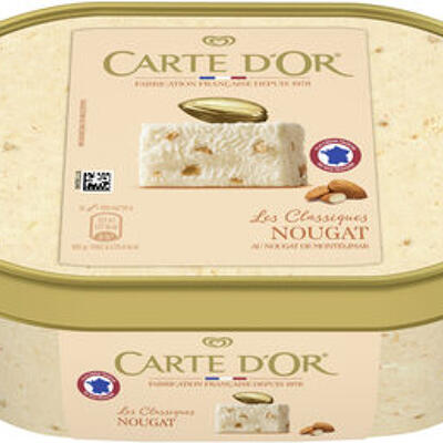 Carte d'or les authentiques glace nougat de montélimar bac 1l (Carte d'or)