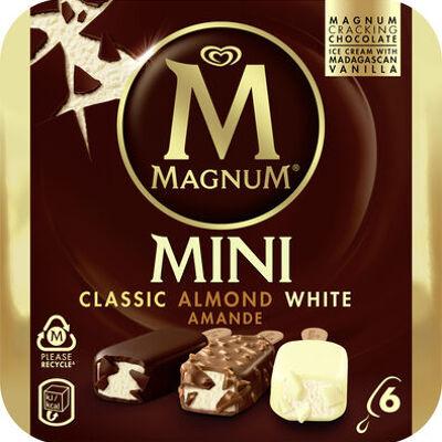 Magnum glace batonnet mini amande chocolat blanc (Magnum)