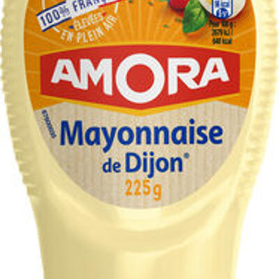 Amora mayonnaise dijon nature œufs français flacon souple 225g (Amora)