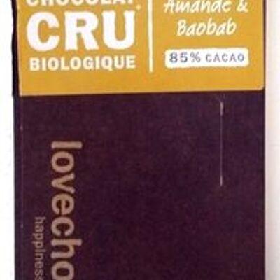 Chocolat cru biologique (Lovechock com)