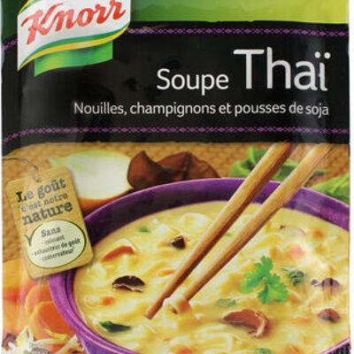 Knorr soupe déshydratée thaï nouilles champignons pousses de soja 69g (Knorr)